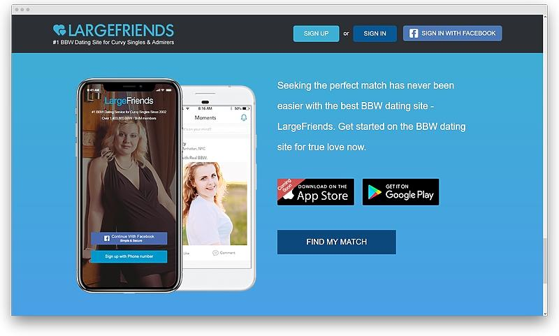 screenshot www largefriends com 1575559111387 - Plus size dating services for the curves to be adored