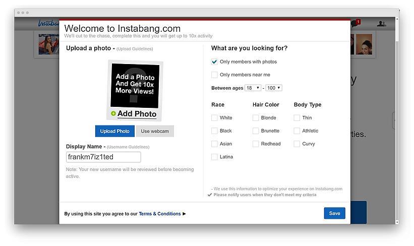 Instabang review screenshot 15 - Hookup with a bang: my experience of dating on Instabang