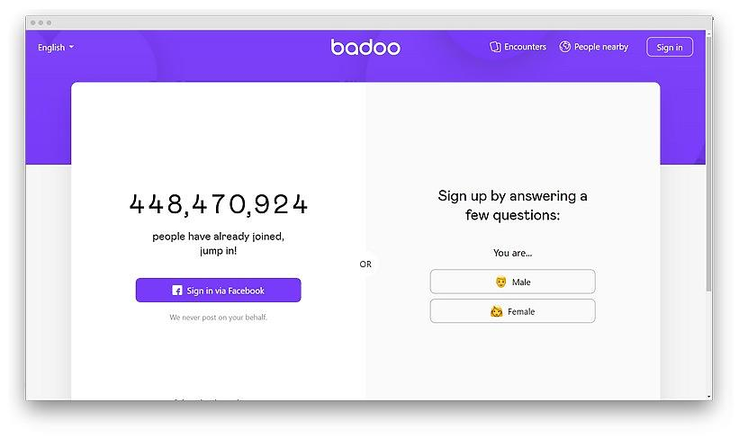 screenshot badoo com en 1 - Badoo chat room: how to discover the social side of the dating app