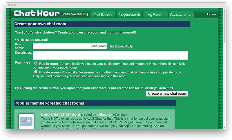 Chat Hour review 13 - Chat Avenue: all the information on the oldest chat website in the history