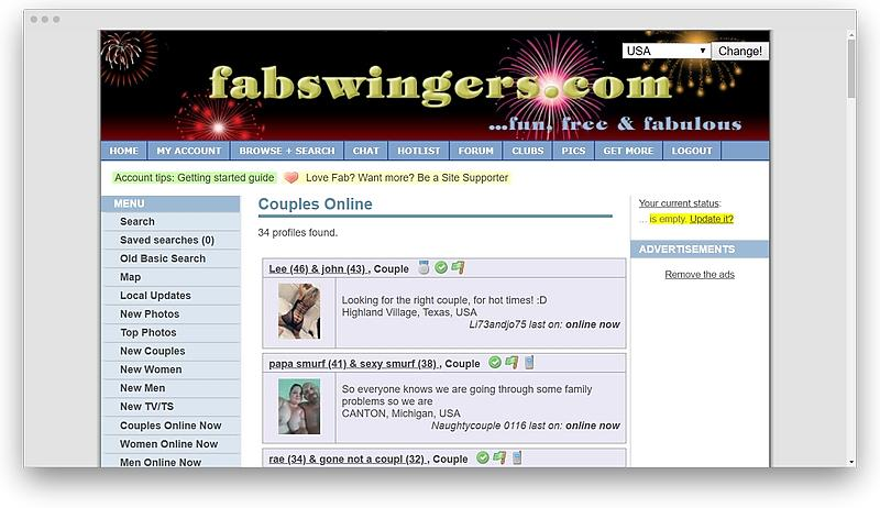 FabSwingers detailed review 06 - 12 best swinger sites to make sex cool