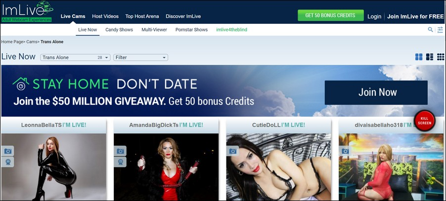 shemale cams10 1 - Top 4 Shemale Webcam Sites With the Hottest Trannies of the Web
